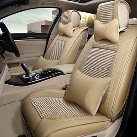 Textured Fast Heat Dissipation Ice Silk And Rayon Luxurious Car Seat Cover
