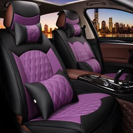 Economic Beautiful Color Rubbing Genuine Leather Car Seat Cover