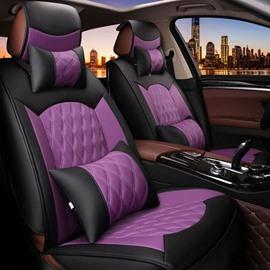Economic Beautiful Color Rubbing Genuine Leather Car Seat Cover
