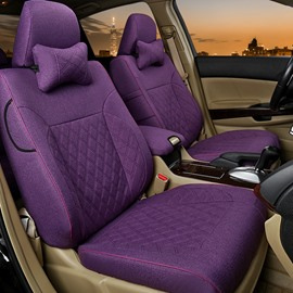 Beautiful Color Simple No Electrostatic Flax And Natural Fibers Car Seat Cover