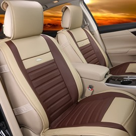 24 Lines Simple Fast Heat Dissipation Genuine Leather Car Seat Cover