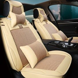 Casual Business Style Cooling Pattern Design Ice Silk And Rayon Car Seat Cover