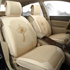 Traditional No Electrostatic Flax And Natural Fibers Car Seat Cover