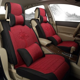 High Quality Luxurious No Electrostatic Flax And Natural Fibers Car Seat Cover