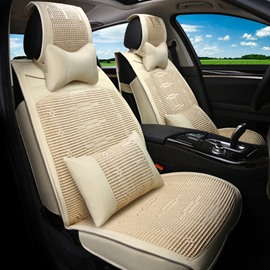 Casual Cooling Design Comfortable Flax And Linen Material Universal Car Seat Covers