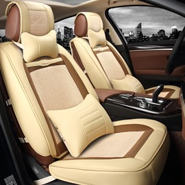 Color Brilliancy Environment-Friendly Pure Ice Silk And Rayon Universal Car Seat Cover