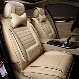 51 Fashionable Patterns Elegant Shape Solid Genuine Leather Universal Car Seat Cover