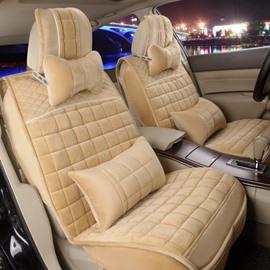 Colorful Attractive Design Plaid Velvet Universal Car Seat Cover