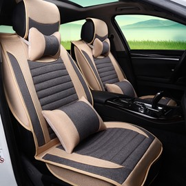 Delicate Colors Elegant Shape Striped Flax And Natural Fibers Universal Car Seat Cover