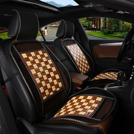 Classy Bamboo Chips Mat Optimal Air Flow And Heat Reduction Universal Car Seat Cover