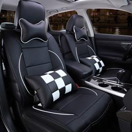 Sport Series Contrasting Color Blocks Design Universal Fit Car Seat Covers