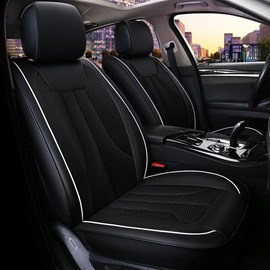 Dark Themed Simple Design Business Universal Fit Car Seat Covers
