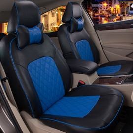 Sports Color Design With Plaid Patterns Comfortable Custom Fit Car Seat Covers