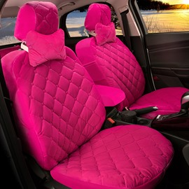 Luxurious Silky Smooth Plaid Patterns Comfortable Custom Fit Seat Covers