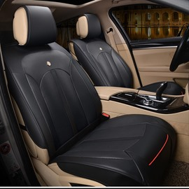35 Modern Sleek Design Smooth Leather Business Style Universal Fit Car Seat Covers
