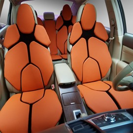 Futuristic Supercar Style Distinctive Orange Universal Car Seat Covers