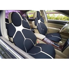 Futuristic Supercar Style Distinctive Black&White Universal Car Seat Covers