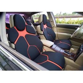 Futuristic Supercar Style Distinctive Black&Orange Universal Car Seat Covers