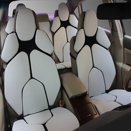 Futuristic Supercar Style Distinctive White Universal Car Seat Covers