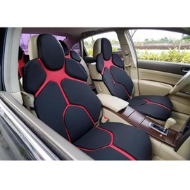 Futuristic Supercar Style Distinctive Black&Red Universal Car Seat Covers