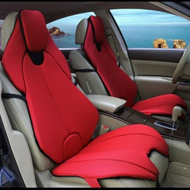 Futuristic Sports Car Style Red Universal Car Seat Covers
