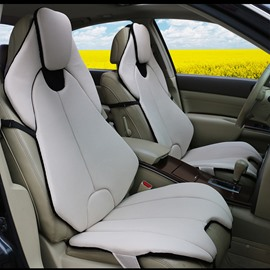 Futuristic Sports Car Style Beige Universal Car Seat Covers