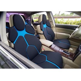 Futuristic Supercar Style Distinctive Black&Blue Universal Car Seat Covers