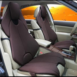 Futuristic Sports Car Style Coffee Universal Car Seat Covers