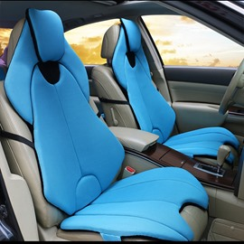 Futuristic Sports Car Style Blue Universal Car Seat Covers