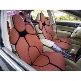 Futuristic Supercar Style Distinctive Coffee Universal Car Seat Covers