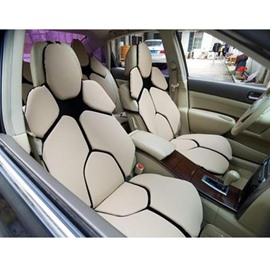 Futuristic Supercar Style Distinctive Beige Universal Car Seat Covers