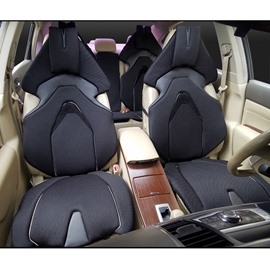 Advance Design Space Capsule Seat Style Black Universal Car Seat Covers