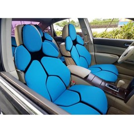 Futuristic Supercar Style Distinctive Blue Universal Car Seat Covers