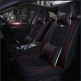Solid Color Luxury Bright Lines Leather Universal Car Seat Covers