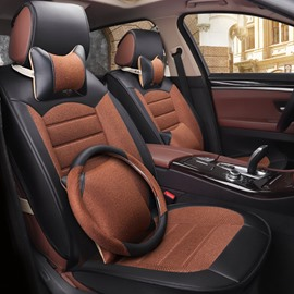 Elegant Comfortable Colorant Match Mixed Material Three Separate Set Universal Car Seat Covers