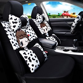Youthful Lovely Colorful Cartoon Character Universal Car Seat Covers