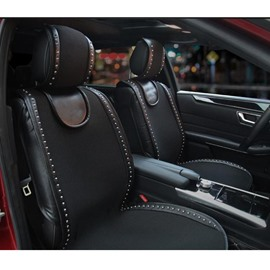 Monochrome Elegant Soft Breathable Fabric Universal Car Seat Covers