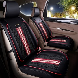 Luxurious Knitting Fabric Soft Front Single-seat Universal Car Seat Cover