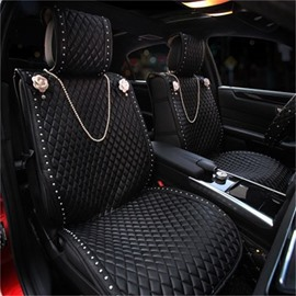 Hang An Artificial Pearl Necklace And Inlaid With Artificial Pearls Universal Car Seat Covers