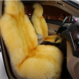 Warm Top-grade Woollen Super Smooth Comfortable Front Single-seat Universal Car Seat Coverscost-effective