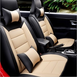 High-grade Cost-effective Leather Stitching Color Front Single-seat Universal Car Seat Coverscost-effective