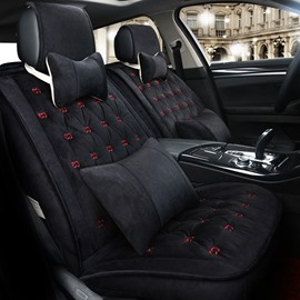 Luxury Unique Design Pure Color Business Style Velvet Plush Material Universal Car Seat Cover