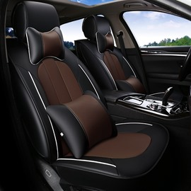 Classic Tasteful Leather Material Solid Comfortable Universal Car Seat Cover