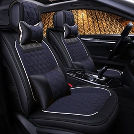 Business Luxury Style Ice Silk Rayon Universal Car Seat Cover