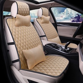 Cost-efficient Pure Color Casual Design Texture clear Universal Car Seat Covers