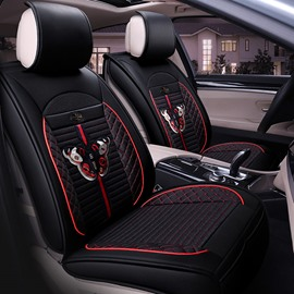 Traditional Pattern Reliable Quality Leather Mixing Flax Material Universal Car Seat Covers