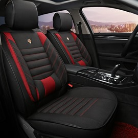 Color Blocking Cozy And Comfortable Casual Design Linen Universal Car Seat Covers