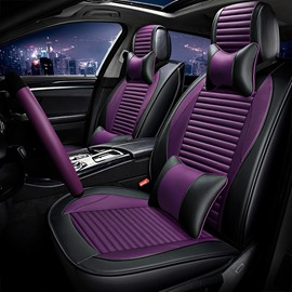 Luxe Edition Simple Sport Genuine Pleasing Leather Universal Car Seat Covers
