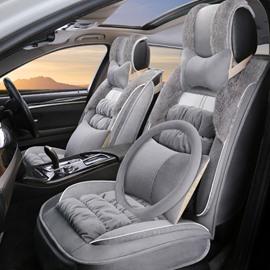 Elegant Shape Plush Impeccable Warm Winter Universal Car Seat Covers