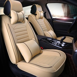Full Set Car Seat Covers Extravagant Durable Wrinkle-free Comfortable Leather Universal Car Seat Covers for Cars SUV Pick-up Truck
